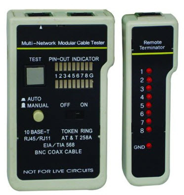 Tester kabla UTP/FTP/TEL/BNC