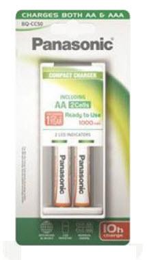 Punjač baterija Panasonic BQ-CC50 + 2 HR6(1000mAh)