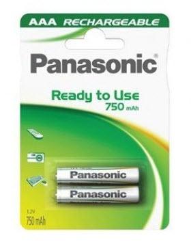 Baterija Panasonic HHR-4MVE/2BC 750mA Ni-Mh