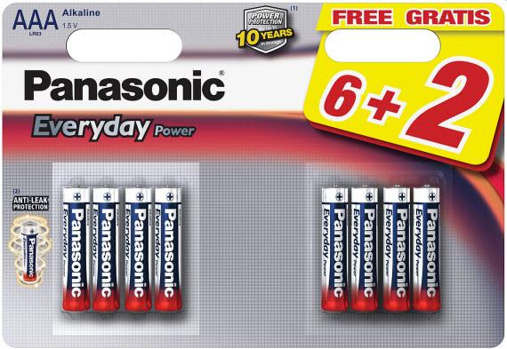 Baterija Panasonic LR03EPS/8BW 1,5V Alkalna