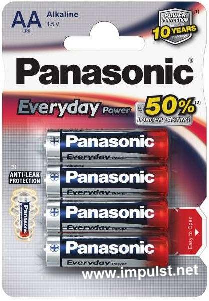 Baterija Panasonic LR6EPS/4BP 1,5V Alkalna