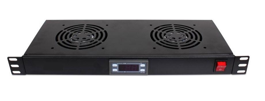 Ventilator panel 1U 2FAN sa termostatom
