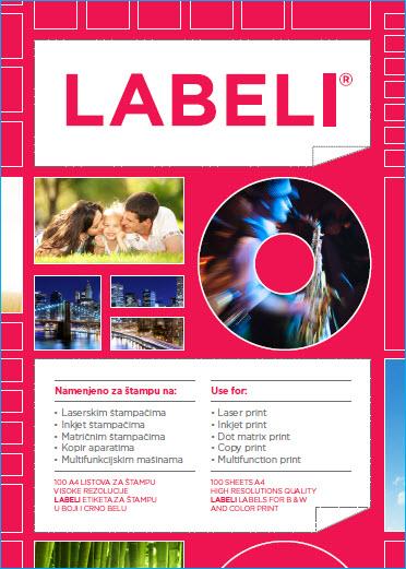 A4 etikete 2 CD