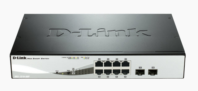 D-Link DGS-1210-08P Gigabit Smart Managed PoE Switch