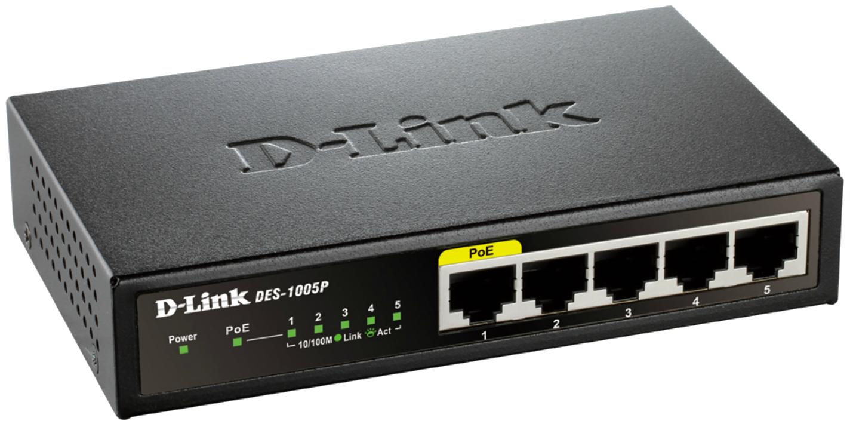 D-Link DES-1005P Desktop Switch