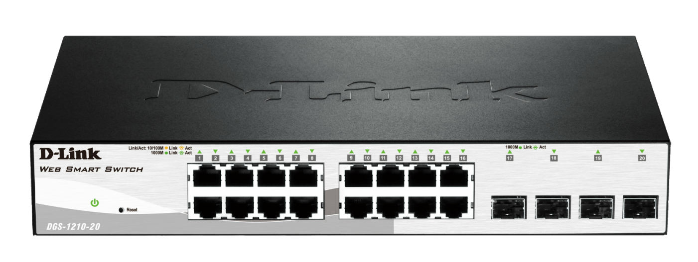 D-Link DGS-1210-20 Gigabit Smart+ Switch
