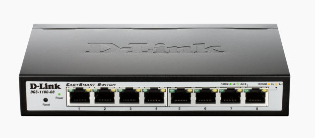 D-Link DGS-1100-08P Gigabit PoE Switch Layer 2