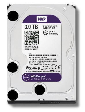 HDD WD SATA 3TB Purple - PURZ