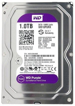 HDD WD SATA 1TB Purple - PURX