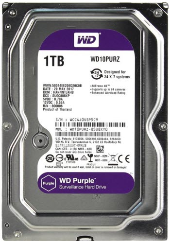 HDD WD SATA 1TB Purple - PURZ
