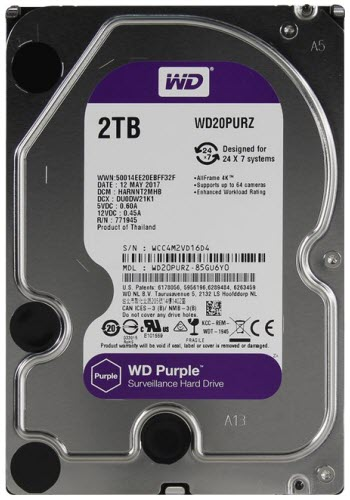 HDD WD SATA 2TB Purple - PURZ