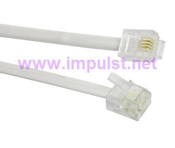 Kabl telefonski priključni 3m beli
