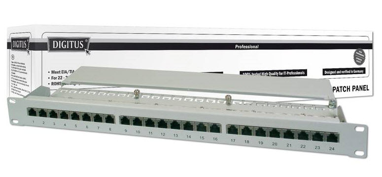 Patch panel 24P kat. 6 STP - Digitus