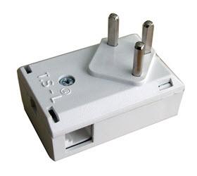 Telefonski utikač beli + 2 utičnice RJ11