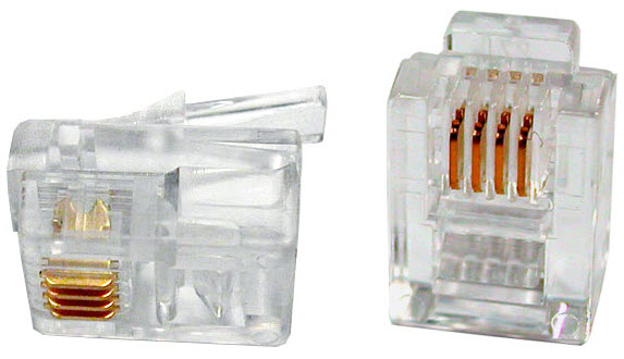 Mikroutikač telefonski RJ11 6/4